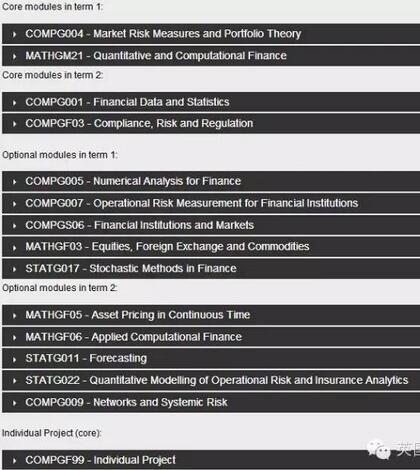 伦敦大学学院(UCL)金融硕士项目解析