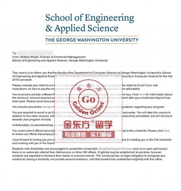 普通学子成功牵手乔治华盛顿大学信息安全硕士