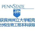 获宾州州立大学帕克分校生物工程本科录取