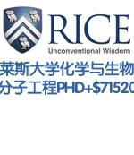 莱斯大学化学与生物分子工程博士PHD全奖+$71520/年