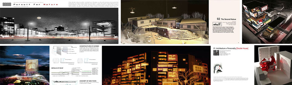 建筑学作品集展示